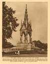 The Albert Memorial, Kensington Gardens 1926 old vintage print picture